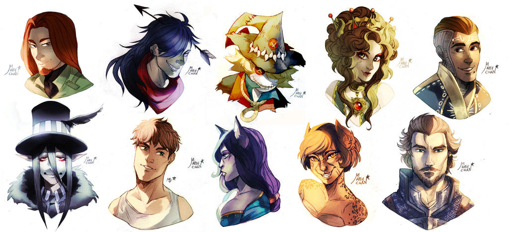 Bust commissions 6 by Maby-chan