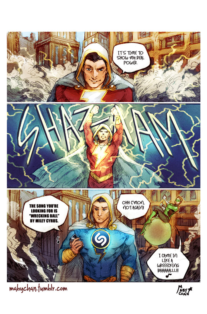 SHAZAM!...or maybe not. by Maby-chan