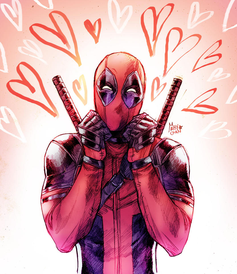 Cute Deadpool is here by Maby-chan