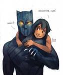 Black Panther and Mowgli