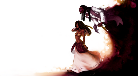 Gisele and Legba by LibertyMae