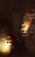 Mario Brothers by LibertyMae