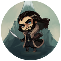 The Hobbit Buttons - Thorin by LibertyMae