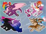 Pride dragon adopts! (OPEN 3/3) by Minus-Eleven
