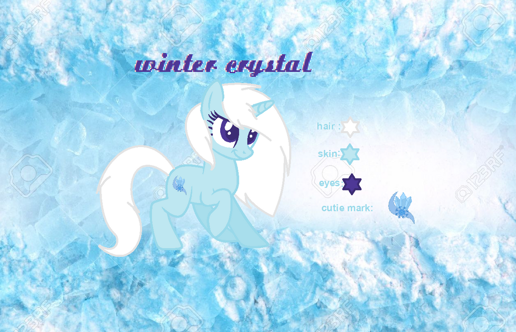 My OC Winter Crystal by blablabla2910
