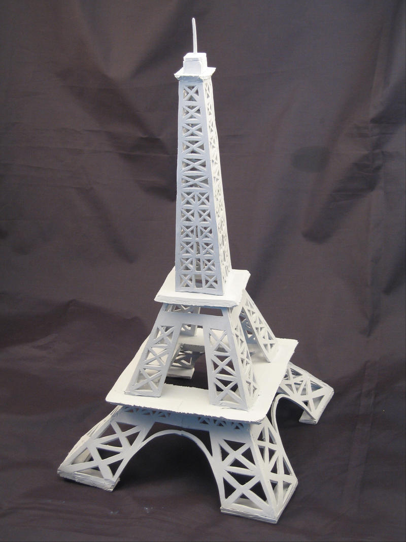 styrofoam eiffel tower by paper-Panda