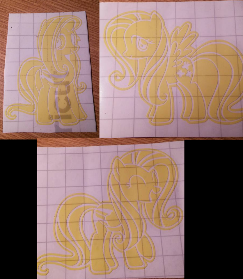 Fluttershy Decals by SabretoothCreations