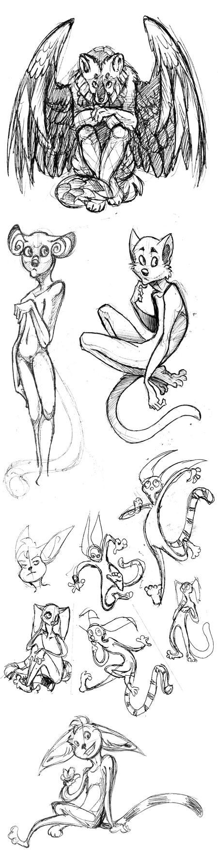 Stylized Sketchdump by IamSKETCHcat