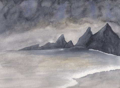 Landscape (watercolour and gouache)