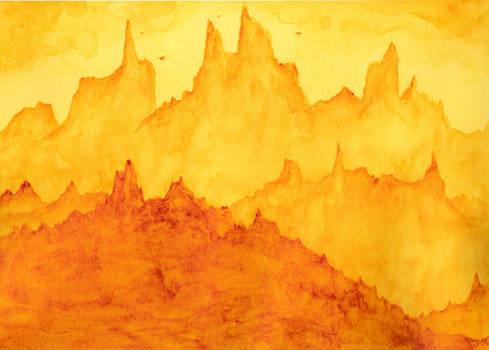 Monochrome (Quinacridone Gold) (watercolour)