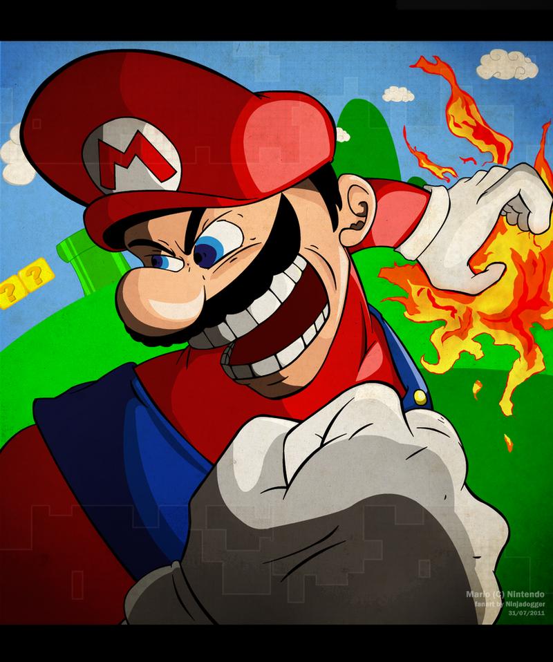 Mario's Rage by ninjadogger