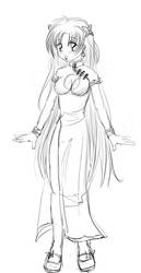 First Aki Sketch by Bastet-sama