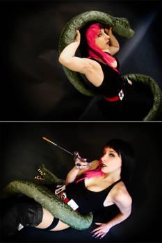 Gothica vs Snake cosplay