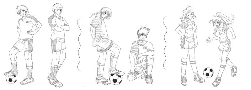 Football sketches commission