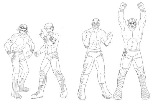 Wrestler Sketches Commission