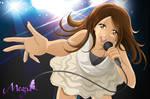 Megu is singing