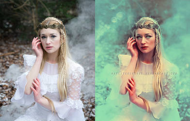 before and after Ice Elf by HayleyGuinevere