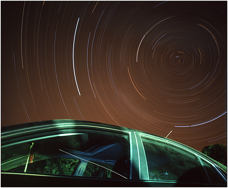 Star Trail Test 2: Car by MD81
