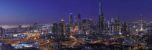 Panorama: Melbourne at Dusk