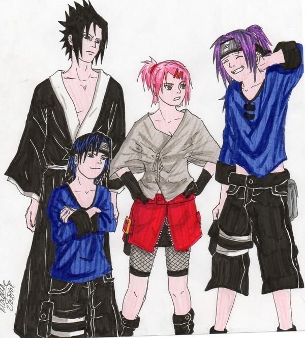 Sakura Haruno And Sasuke Uchiha Family