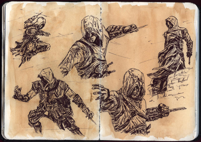 Assassin's Creed - Sketches by ThePotatoStabber