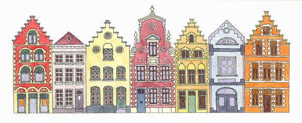 Buildings of Bruges by ThePotatoStabber