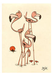 Flamingos by Themrock