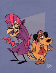 Dick Dastardley and Muttley by Themrock