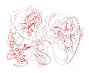 Luigi's Mansion Sketch by Themrock