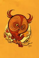 Owltober - Great Horned Owl by Themrock