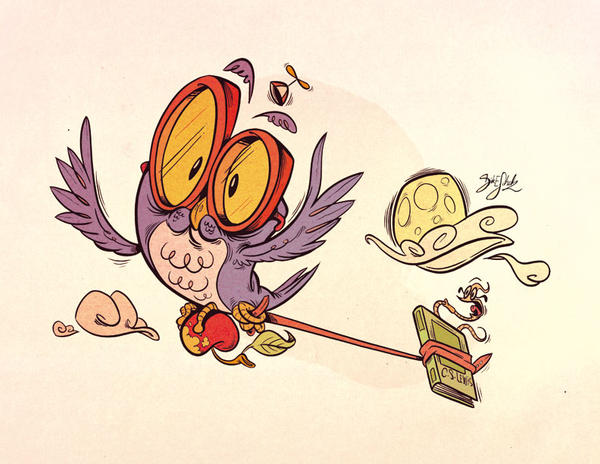 Owltober - Schoolboy Owl by Themrock