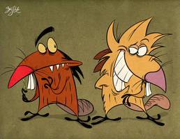 Angry Beavers by Themrock