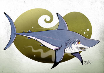 Shark 12 - Porbeagle Shark by Themrock
