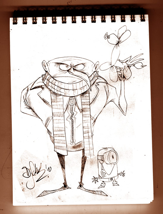 Despicable Me Sketch by Themrock