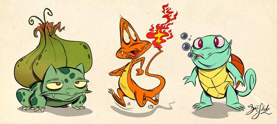 generation 5 pokemon starters. Pokemon Starter 1st Gen by