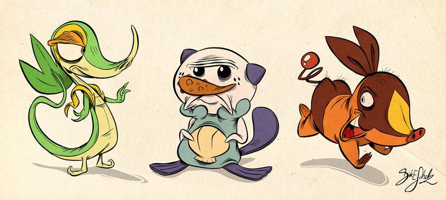 Pokemon Start Edition Digital Sketches - 5th Generation