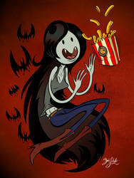 Marceline Gets Her Fries by Themrock