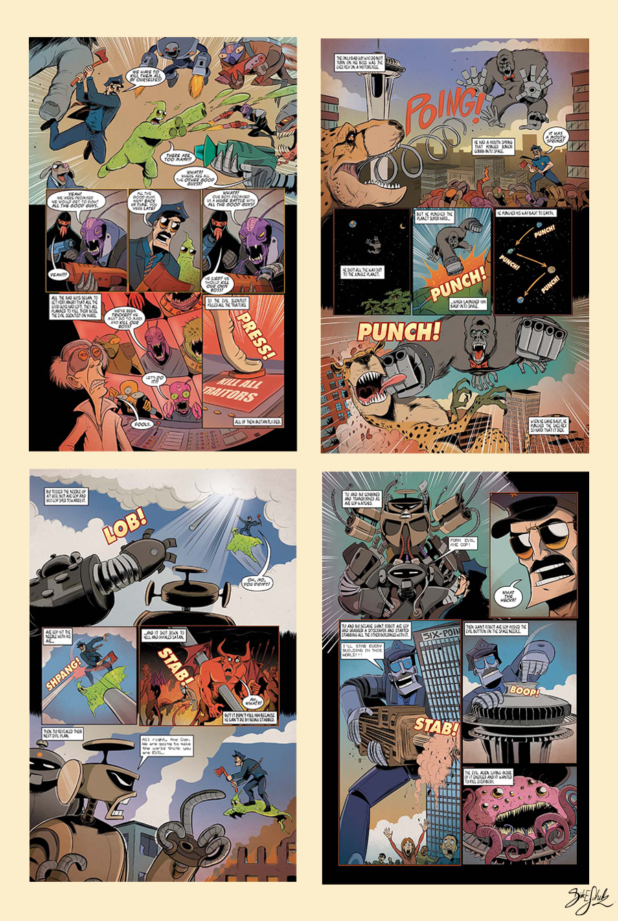Axe Cop 2 Issue 2 - preview by Themrock