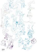 Captain Smirk Head Sketches