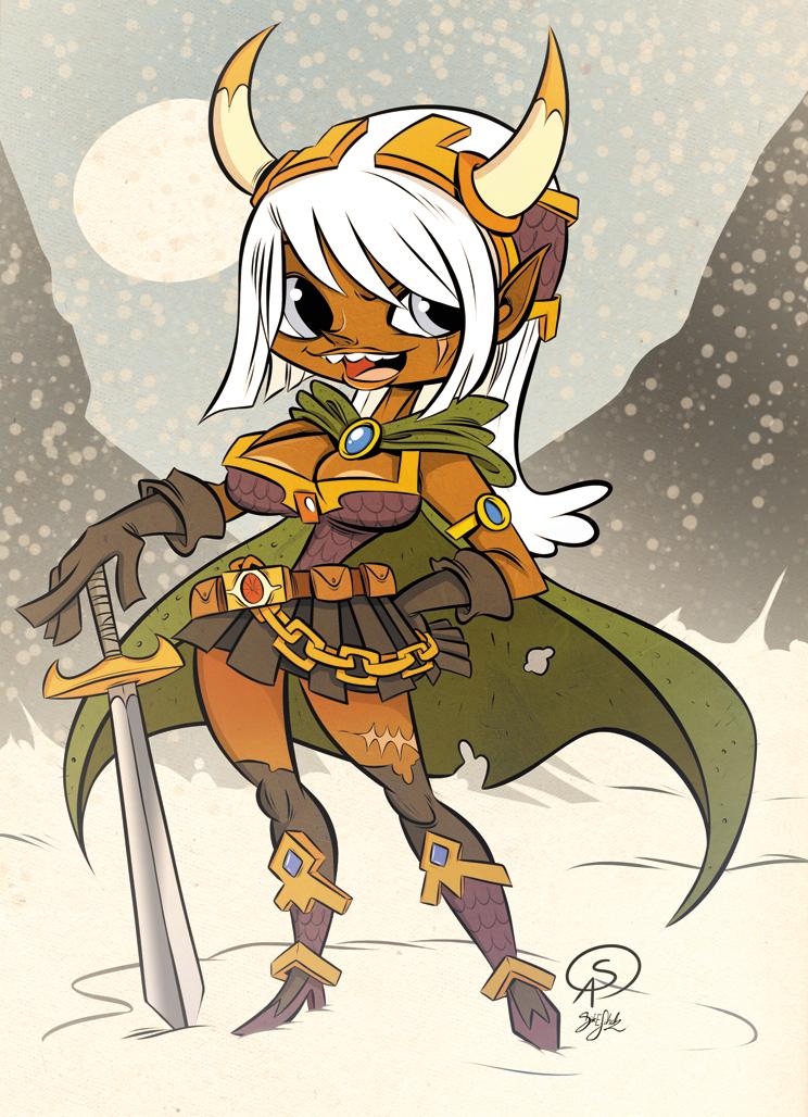 Stefanie's Warrior Elve Girl by Themrock