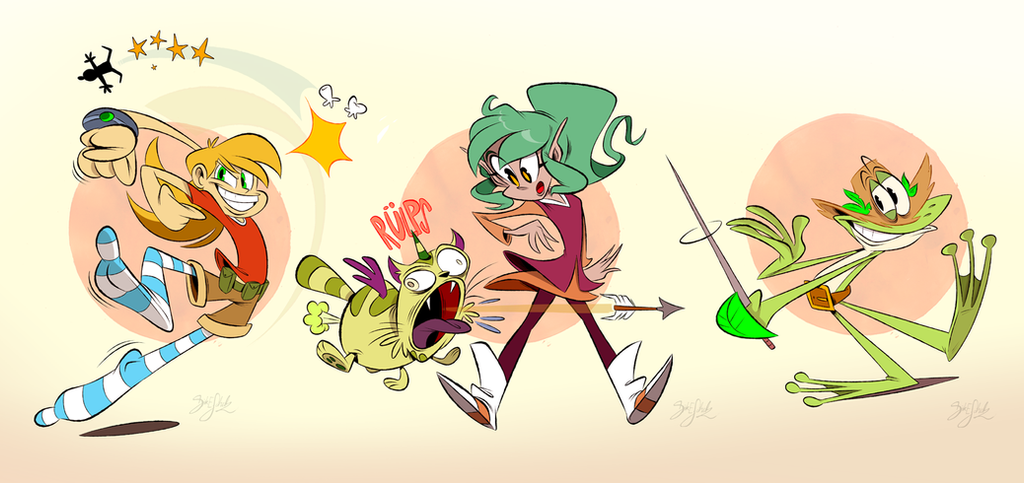 Casey Harpy Gee And Rana By Themrock On Deviantart