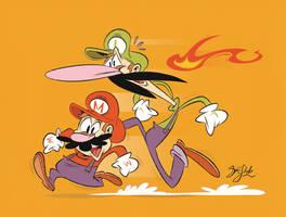 Mario Brothers On the Run