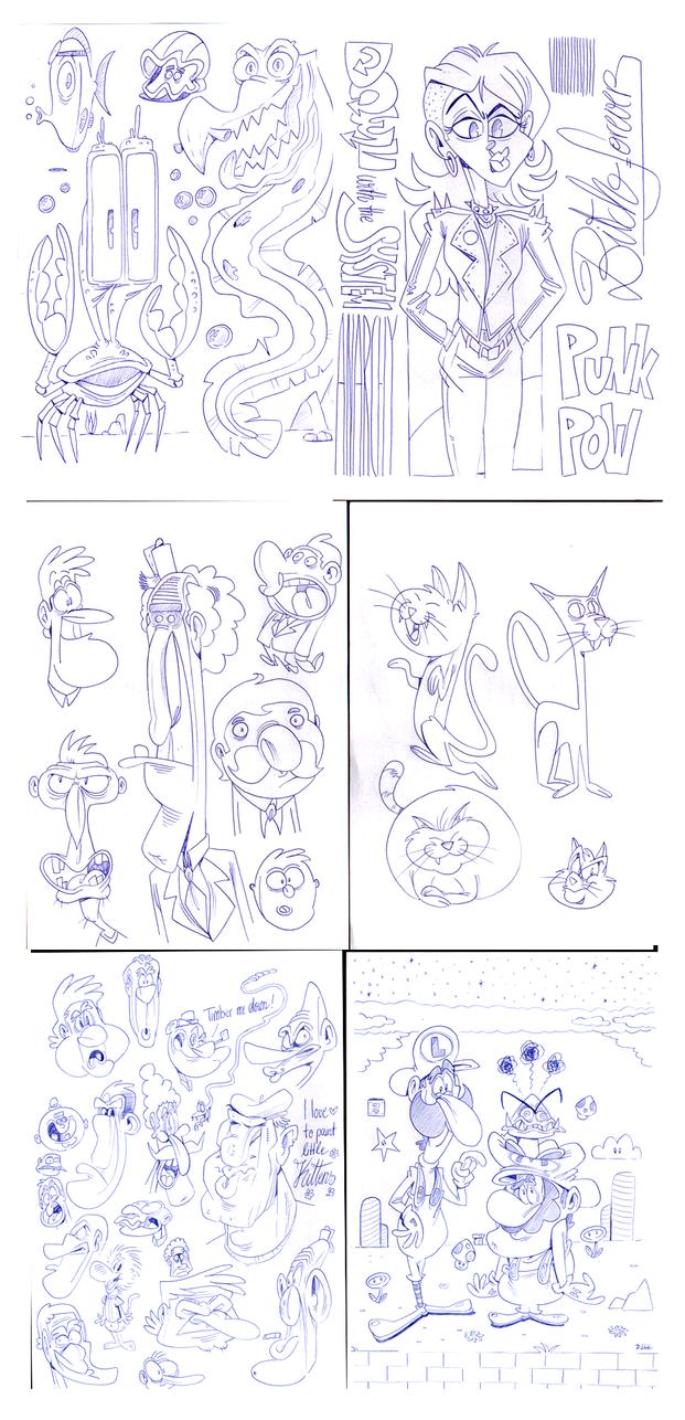 Ballpoint Doodles September 01 by Themrock