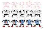 Cuphead Spider Charactert Design Turnaround