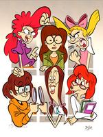 Six Fanarts - The Nerdy 24 Girl Power