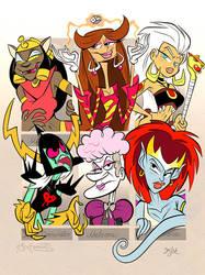 Six Fanarts - Thirtythree Female Power Level