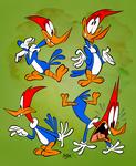 Woody Woodpecker Poses