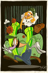 Lakitu attacks Luigi