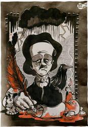 Edgar Allan Poe by Themrock