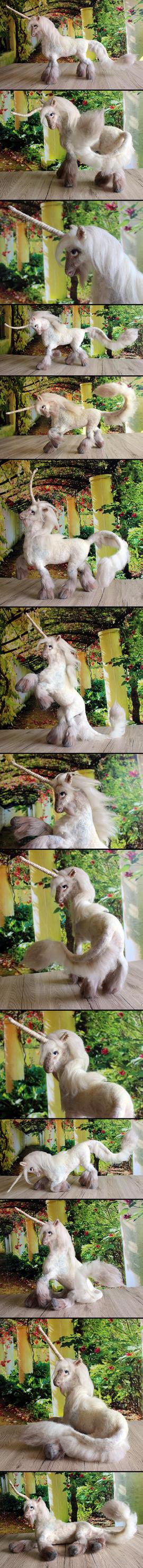 Pearl white Unicorn by Finya-Vardeen